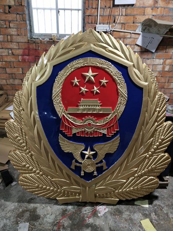 消防徽贴银